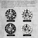Horloge murale en vinyle 33 tours fait-main / thème lilo et stitch, walt disney, dessin animé