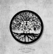 Horloge murale en vinyle 33 tours fait-main / thème arbre de vie, symbole, terre