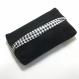 Tatuta pour mouchoir + sa petite pochette assortie tissu noir