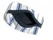 Tatuta pour mouchoir bleu foncé et blanc à rayures et intérieur doublé en denim