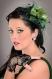 Pince mariage karen vert avec voilette