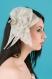 Pince mariage diamante gris perle et gris en sisal