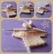 Layette : petit tricot en forme de pull pour scrapbooking, faire part , déco miniature,babyshower,bonbonnière