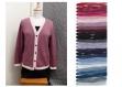 Kit tricot machine -cardigan col v bordure contrastante - taille m