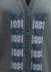 Kit tricot machine - cardigan col v bande jacquard verticale - taille l