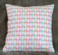 Coussin flamand rose multicolore