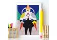 Affiche chambre enfant • illustration • decoration chambre d'enfant • decoration murale • enfant • poster illustrée originale graphique