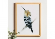 Impression d'art • affiche • decoration murale oiseau • poster • aquarelle • decoration interieure • vintage • art • animaux • illustration