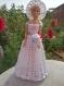 Robe de mariee avec chapeau + bouquet