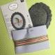 Kit décoration en broderie avec cadre en feutrine tea time rico design