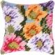 Mini kit de broderie caneva coussin fleurs gobelin - rico design