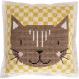 Kit accessoire décoration grand coussin chat 42cm broderie - rico design