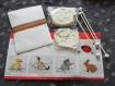 Kit accessoire décoration - broderie mobile animaux little friends - rico design