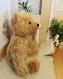 (vendu) ours miniature en mohair de 14 cm, réalisé à l'ancienne, articulé pour poupées d'artiste