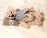 (vendu) ours miniature en viscose de 14 cm cm, réalisé à l'ancienne, articulé