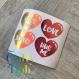 Sticker   autocollant   vinyl   coeurs   bullet journal   saint-valentin   amour