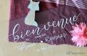 Bienvenue | panneau personnalisé | mariage | calligraphie | plexiglass