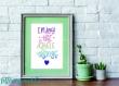 Affiche | lettering | calligraphie | tableau | enfant | bébé | citation | enjoy the little things