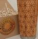 Wood gift travel mug fill flower of life engraved  sacred geometric custom design