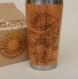 Wood gift travel mug vintage amanita engraved custom design mushroom
