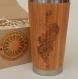Wood travel mug peacock customized engraving tumbler