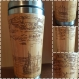 City panorama gift on request wood travel mug personalized custom designs