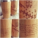 Personalized logo wooden tumbler coffee travel gift mug with custom image or text