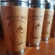 Personalized logo gift  wood travel mug custom engraved designs