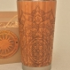 Wooden travel mug petal mandala personalized wood gift customized engraved design