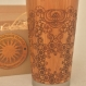 Floral mandala travel mug wood gift engraved custom design