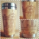 Personalized edinburgh city panorama tourist gift wood travel mug custom engraved designs