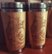 Cat wooden travel mug gift custom engraved coffee tumbler