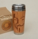 Wood gift travel mug vendetta engraved custom design