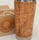 Flat earth gift wood travel mug custom engraved design