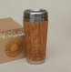 Wood gift travel mug times square  custom engraved tumbler