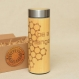 Ready to ship be a change original wood thermos engraved stainless steel wooden flask with screw lid