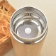Flower of life wood gift thermos sacred geometric engraved design