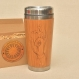 Wood gift travel mug  hamsa custom engraved tumbler