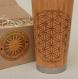 Flower of life wood gift travel mug engraved custom design