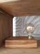Lampe vintage en bois de chêne