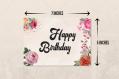 Carte d'anniversaire imprimable - téléchargez instantanément la carte d'anniversaire à l'aquarelle en pdf  - carte à fleurs mignonnes