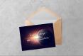 Carte d'anniversaire imprimable - téléchargez instantanément la carte d'anniversaire avec un astronaute, la terre et l'espace en pdf
