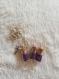 Parure perle violette
