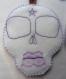 2 grigri ornement tête de mort white witch - magie, folk art, gypsy, pentacle, skull, esotérique, gothique, occulte, sorcière, vaudou, pagan