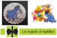 Magnet décoratif - bourriquet l'âne et ami de winnie l'ourson