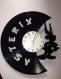 Pendule asterix et obelix en disque vinyle horloge uderzo