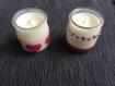 Bougies végétales parfum frangipanier des îles dans pot recyclé