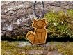 Pendentif pyrogravé en bois « fox » – d'inspiration origami – pièce unique by la tournerie | animaux totems | bijoux femmes/hommes