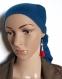 Boucle d'oreille pompon tissue rouge, perles en verre transparente à facette, coupelles, crochet en métal acier inoxydable argenté