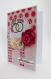 Carte de félicitations mariage décorée de fleurs et d'alliances dorées
